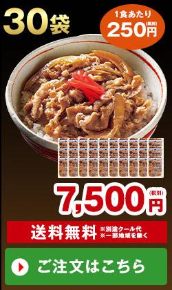 あり田冷凍牛丼の具30袋