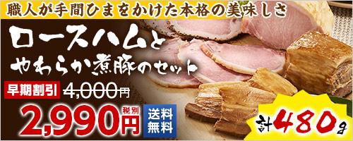 熟伝 ロースハムとやわらか煮豚のセット