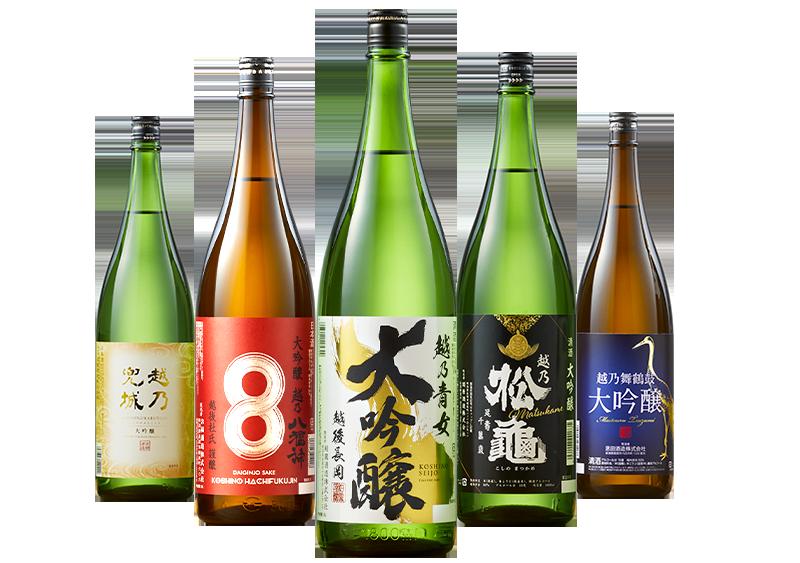 越乃五蔵大吟醸飲みくらべ一升瓶5本組