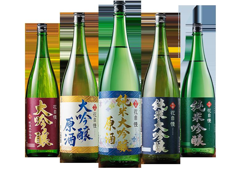 地酒蔵の5種飲みくらべ一升瓶5本組(京姫酒造)