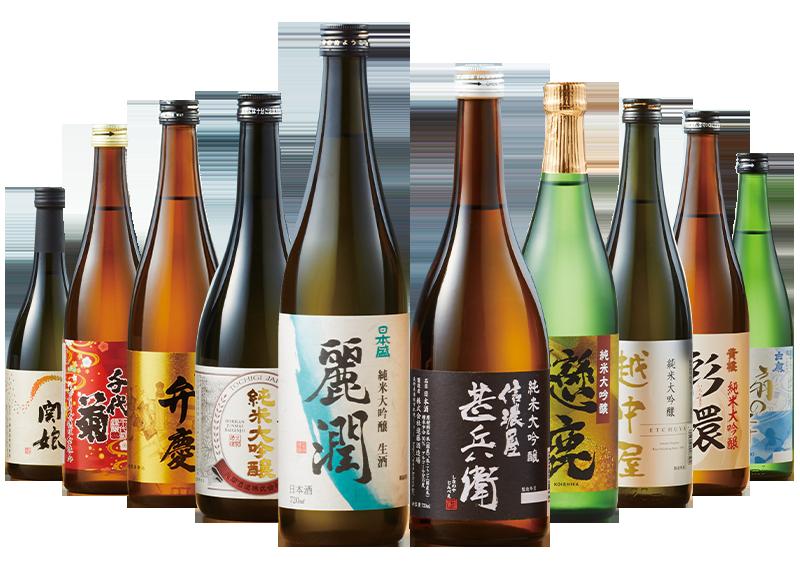 5酒蔵の純米吟醸飲みくらべ一升瓶5本組