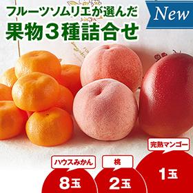 お中元・夏ギフト2020年おすすめ_フルーツソムリエが選んだ果物3種詰合せ】