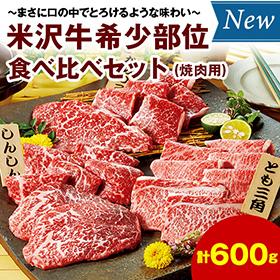 お中元・夏ギフト2020年おすすめ_米沢牛希少部位食べ比べセット計600g(焼肉用)】