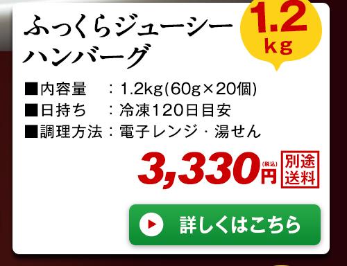 ふっくらジューシーハンバーグ1.2kg