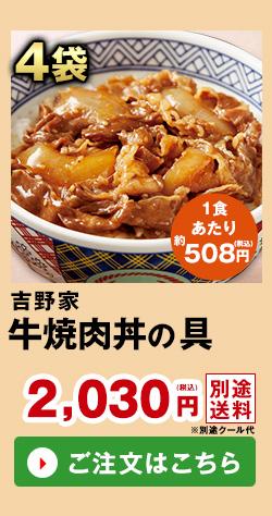 吉野家 牛焼肉丼の具 4袋