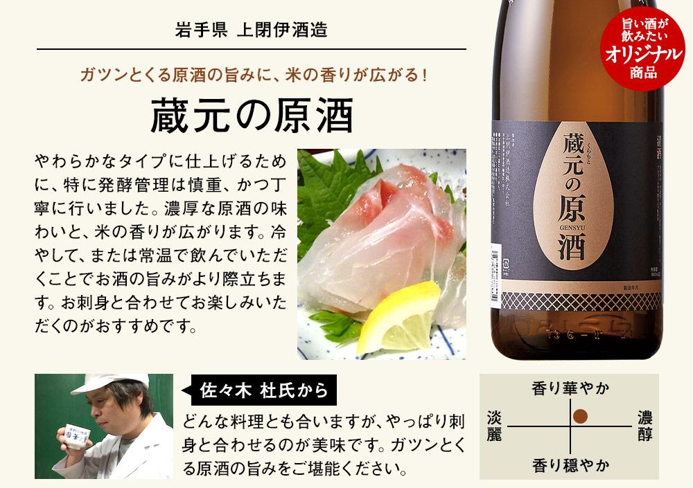 蔵元の原酒