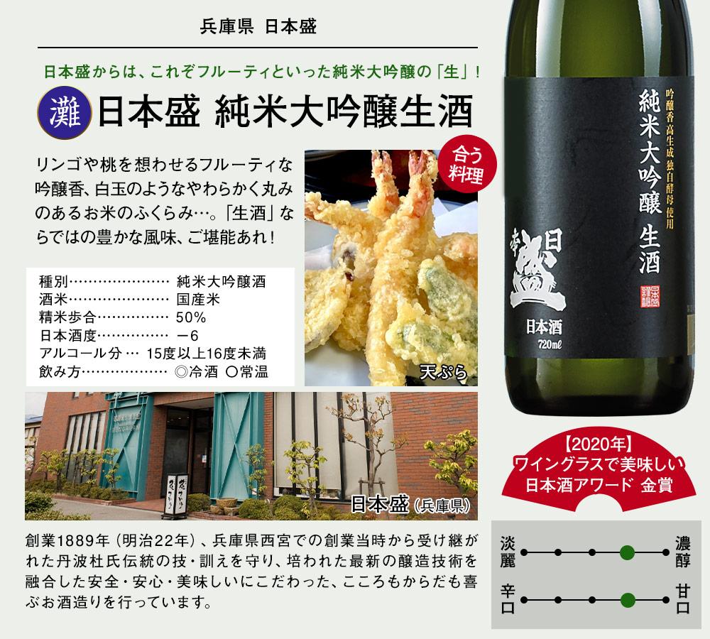 日本盛 純米大吟醸生酒
