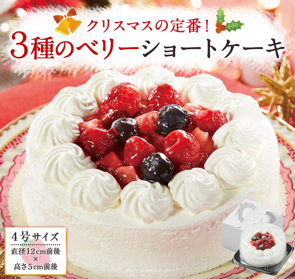 クリスマスの定番!3種のベリーショートケーキ