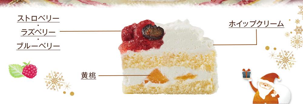 3種のベリーショートケーキ_断面図