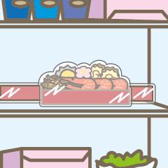 冷蔵庫に入りやすいよう一段ずつラップで包装されています。