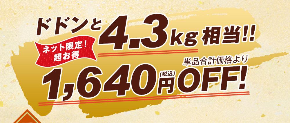 ドドンと4.3kg相当!