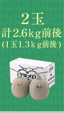 2玉(計2.6kg)