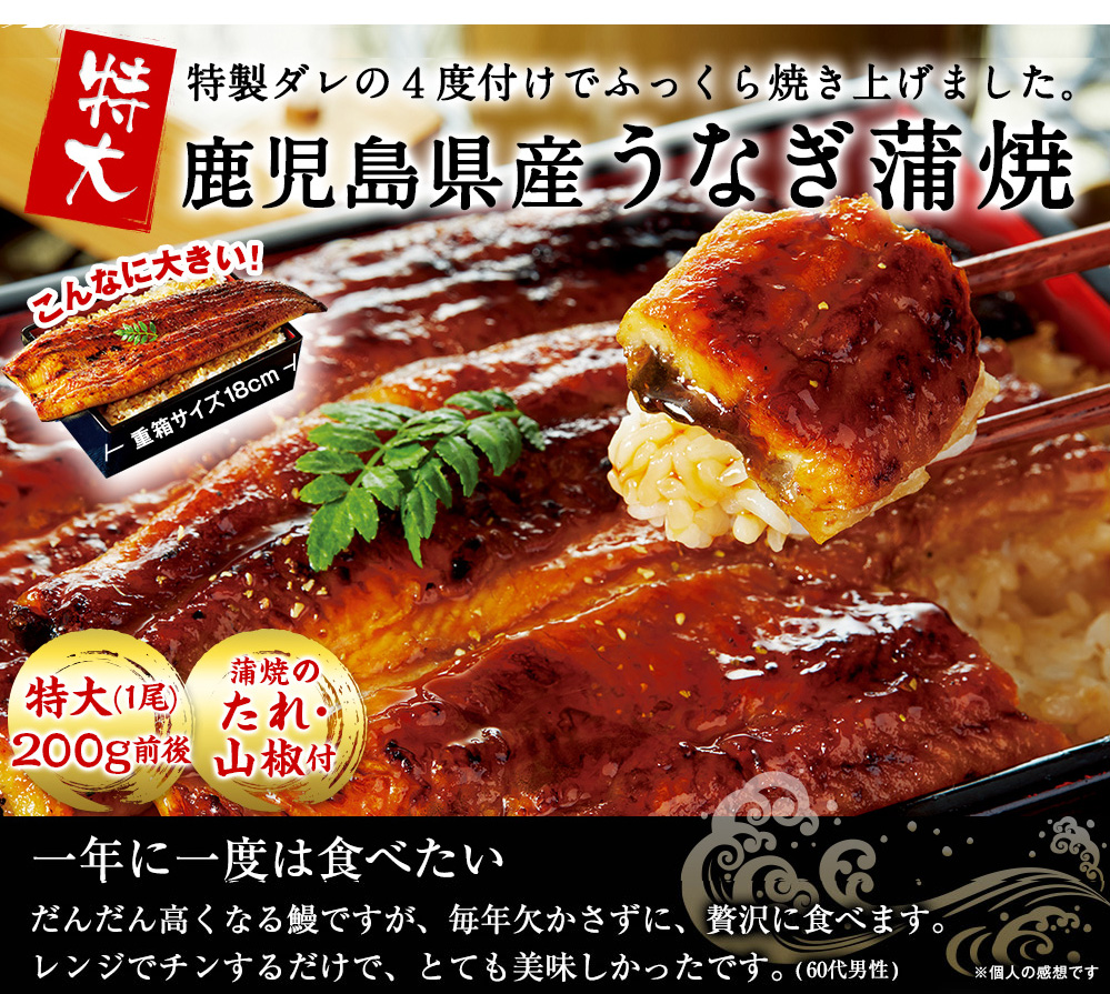鹿児島県産うなぎ蒲焼