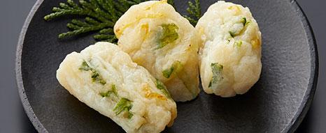 京壬生菜と柚子のちぎり天