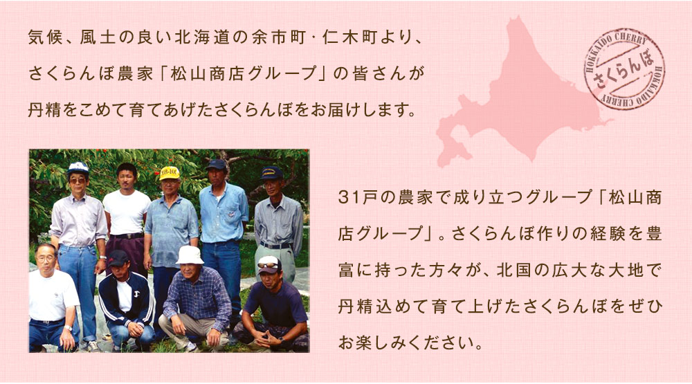 北海道のさくらんぼ