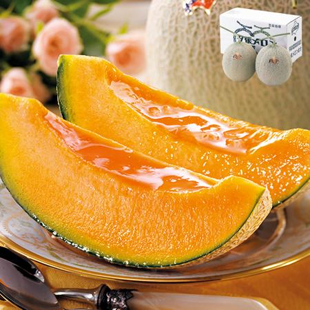 ≪早期割引≫夕張メロン2玉・2.6kg【良品】