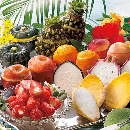 彩り豊かなフルーツシャーベット22個