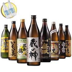 鹿児島・宮崎8酒蔵の受賞芋焼酎飲みくらべ8本組 炭酸水付
