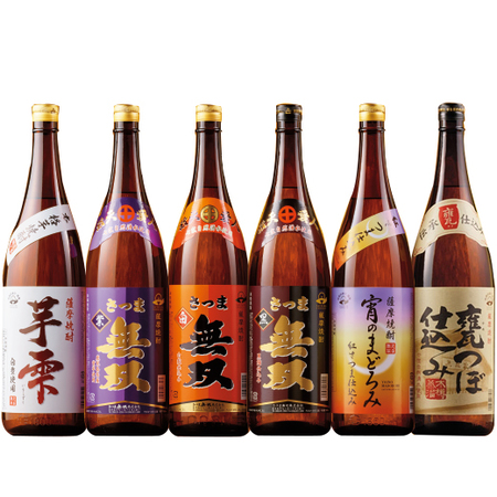 本場鹿児島の受賞蔵の芋焼酎飲みくらべ一升瓶6本組