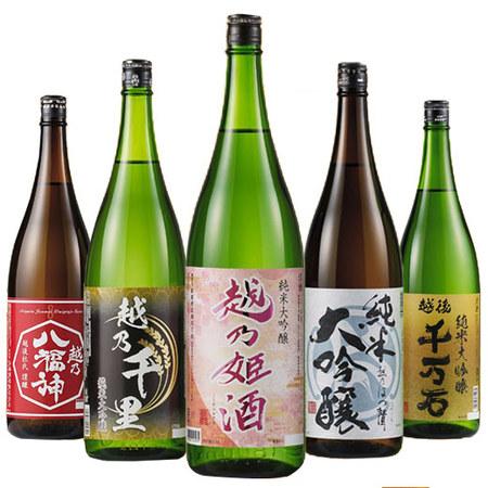 【52%OFF】特割!越乃五蔵純米大吟醸飲みくらべ一升瓶 5本組