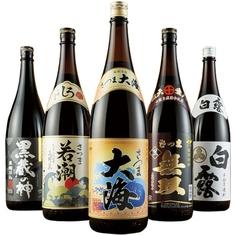 鹿児島5酒蔵の受賞芋焼酎飲みくらべ一升瓶5本組【第2弾】