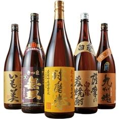 九州5酒蔵の受賞芋・麦・米焼酎飲みくらべ一升瓶5本組