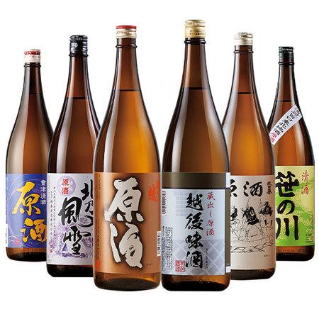 特割!本場新潟・東北の原酒飲みくらべ一升瓶6本組【第4弾】
