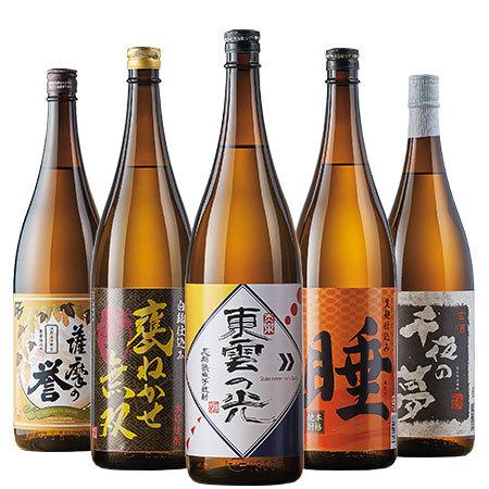 日本酒人気ランキング2位_鹿児島5酒蔵の熟成芋焼酎飲みくらべ一升瓶5本組