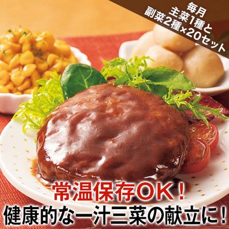 第6弾 常温健康三菜20セット版 定期コース(年12回)